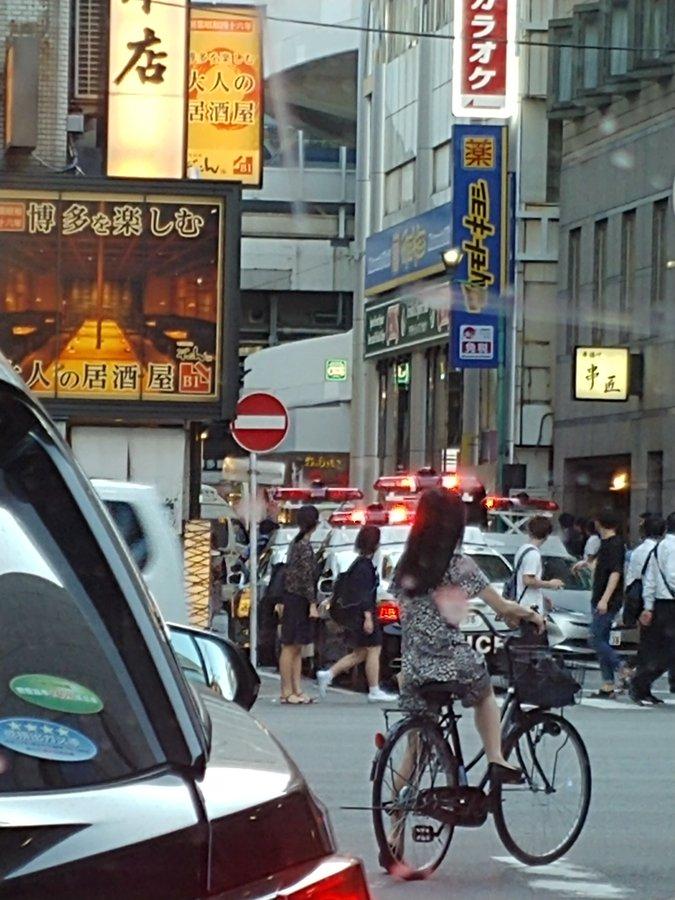博多駅付近で通り魔事件が起きた現場の画像