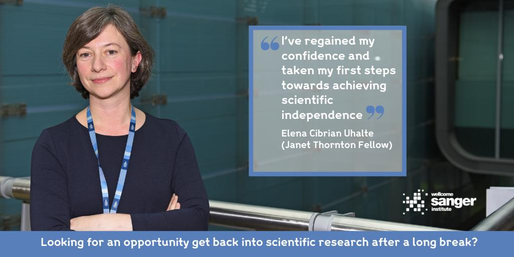 What could our Janet Thornton Fellowship do for you?  Apply now 👉 https://buff.ly/2N6YY7k  #ReturnToScience #PostDocJob @EqualityScience