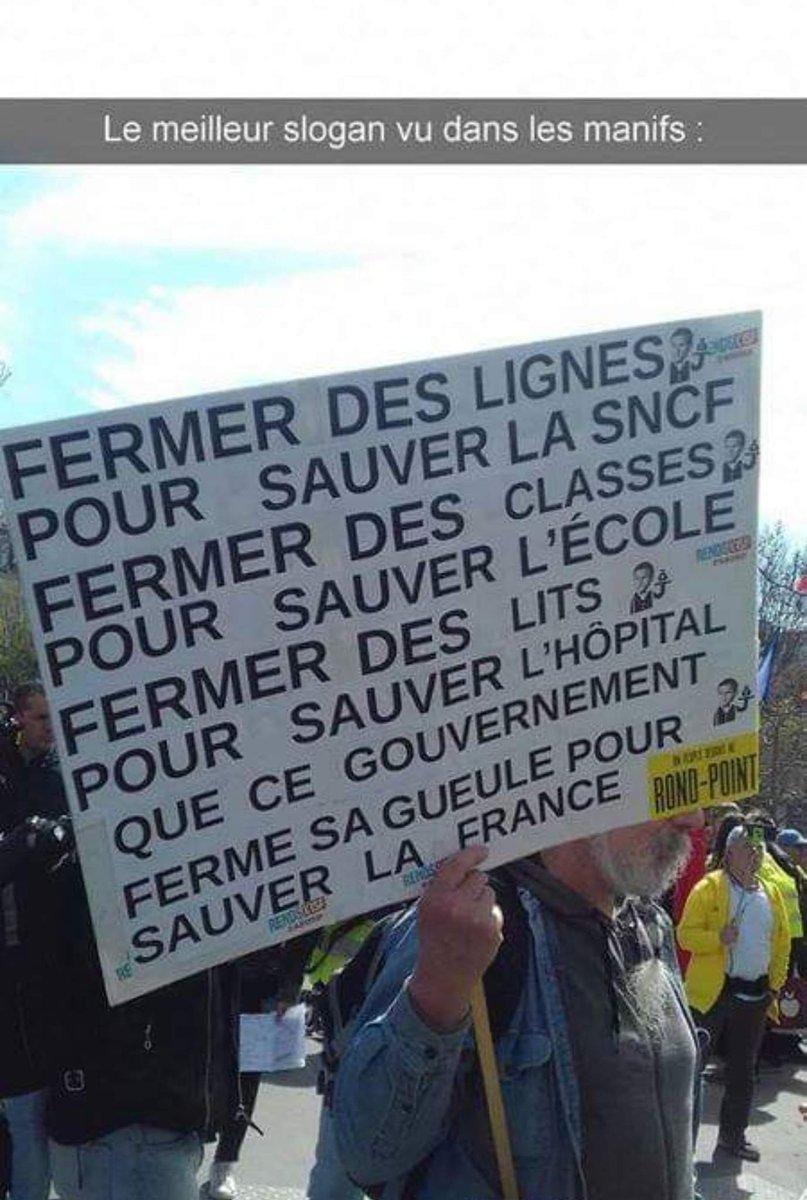 L'imagination des manifestants est intarissable. #humour