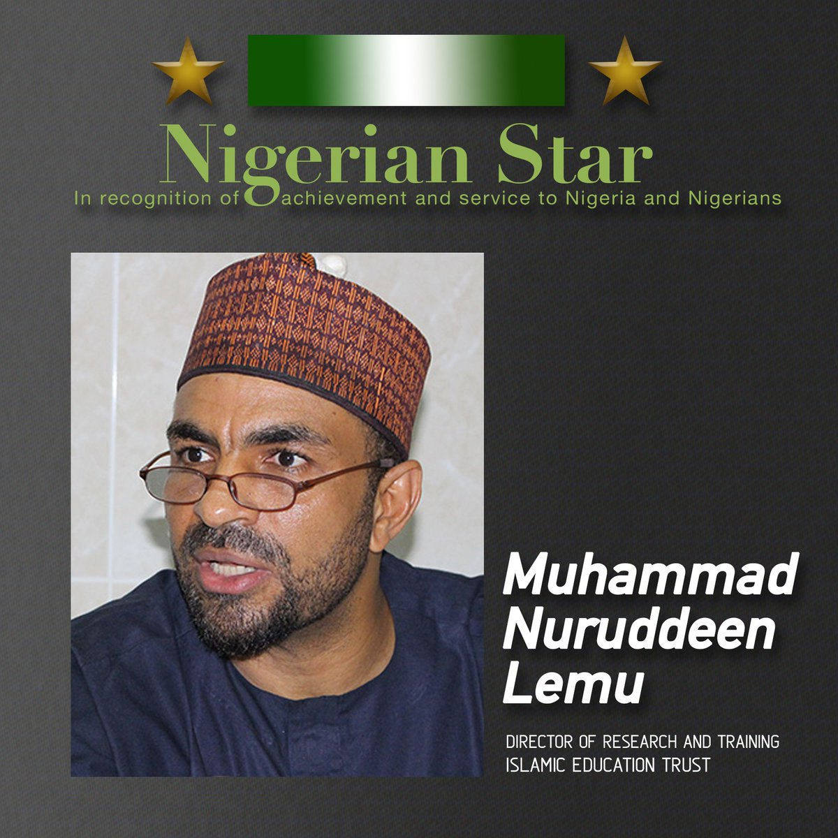 #NigerianStar Muhammad Nuruddeen Lemu is the Director of Research and Training at the Islamic Education Trust, Minna. He has contributed immensely to peacebuilding, countering violent extremism and interfaith collaborations between Muslims, Christians and other religious groups.<br>http://pic.twitter.com/zO9G21NtYv