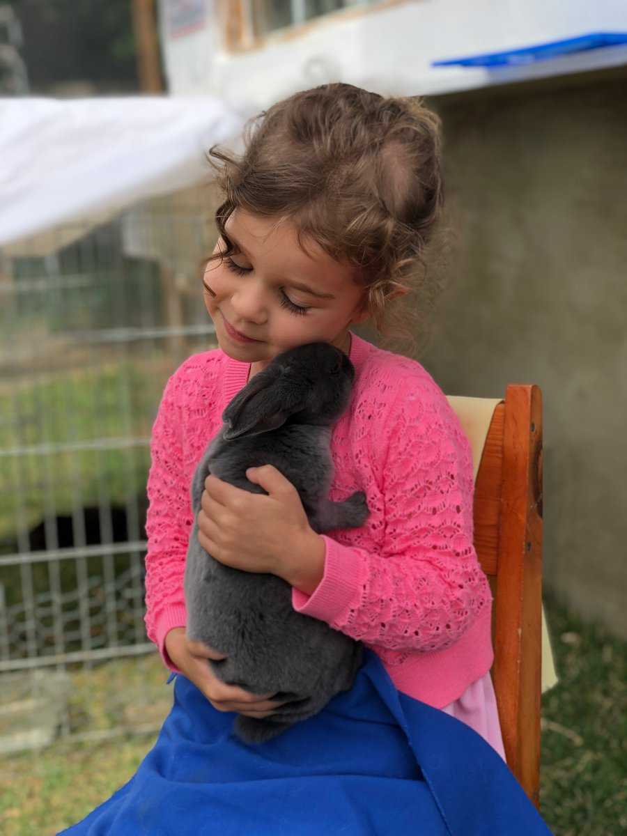 It is the children of today who will become the rescuers of tomorrow.  Let's teach our children to value and respect our animal friends.   PHOTOS: My Granddaughter  (Proud Grammie)   #bekindtoanimals #MondayMorning #Veganism #CuteAnimals<br>http://pic.twitter.com/41f2qFHlXL