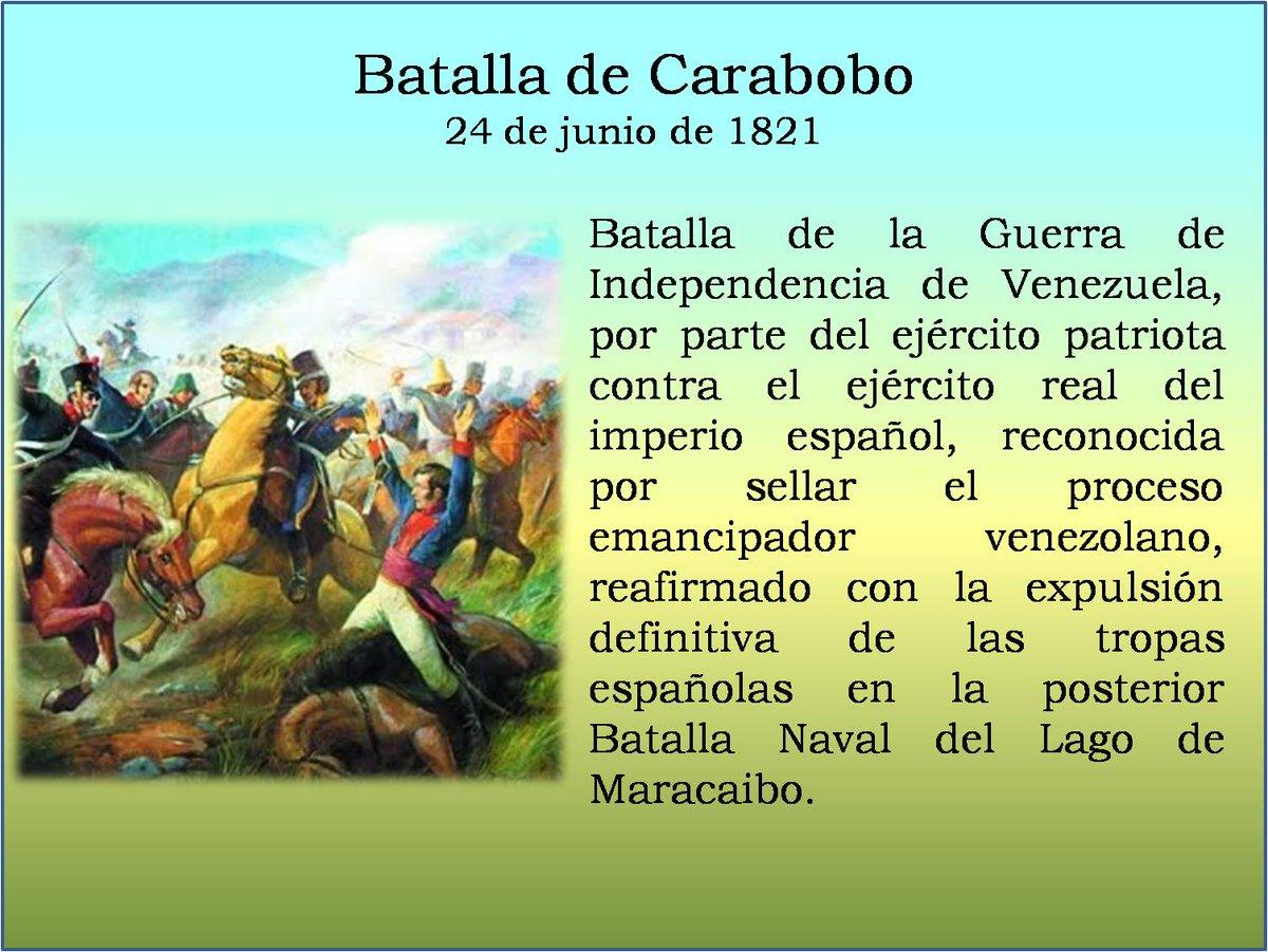 @josevsierra @EduCostadeOro @clifpcostadeoro @OcumareDLaCosta @BerthaRodrgue19 @clifmgarciahevi @fotoecocultura @CRIFPMA @ClifpmPerez @DePermanente1 @Heryrevi @alejabolivarian @leoalvacabrera @Marbellaluque ¡HOY SE CONMEMORAN 198 AÑOS DE LA GLORIOSA BATALLA DE CARABOBO. LA LUCHA QUE SELLÓ LA INDEPENDENCIA DE VENEZUELA!