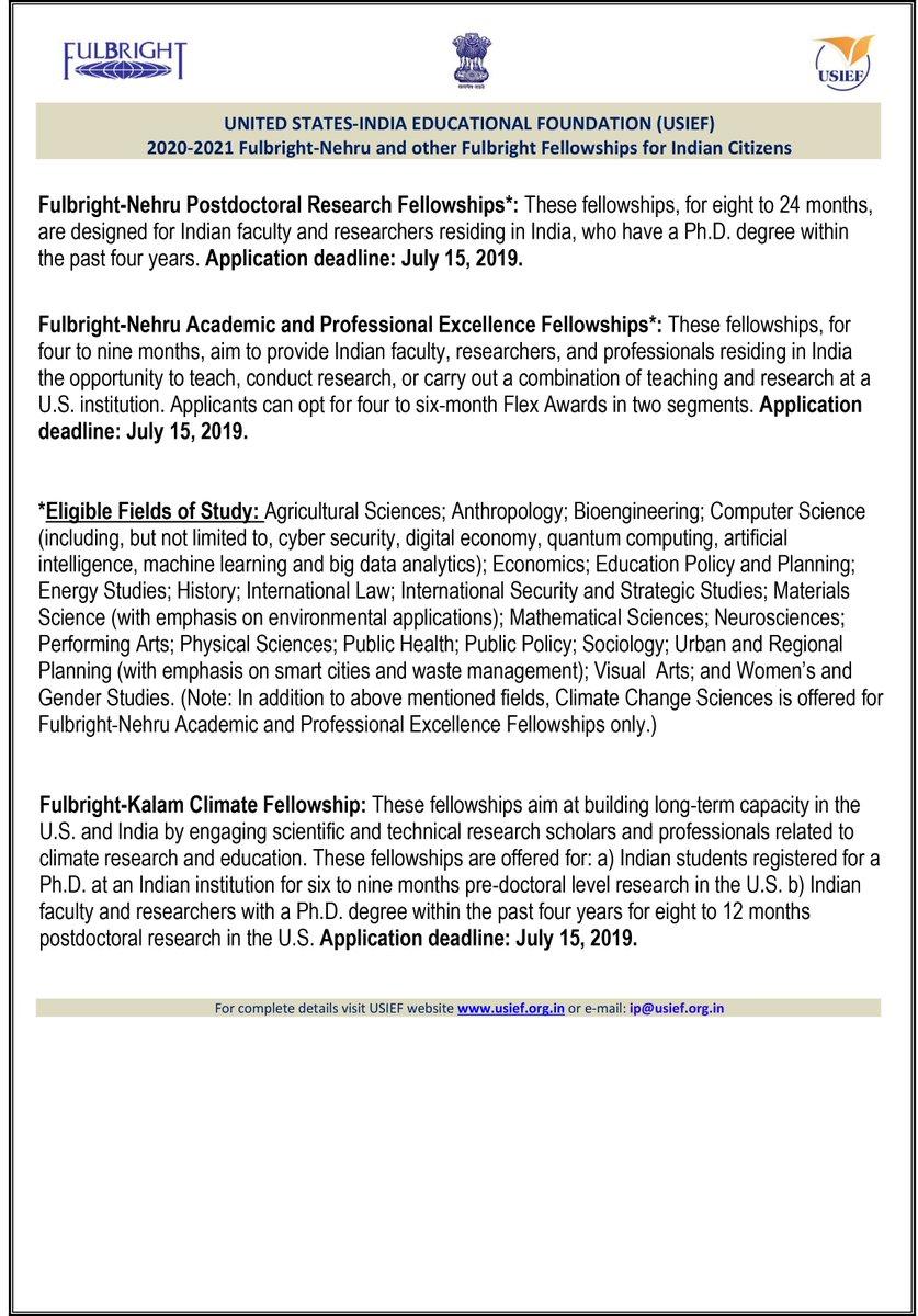 Fulbright nehru doctoral fellowship amount quora