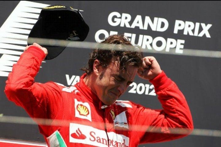 24/06/2012 Hoy se cumplen siete años de la que quizás, sea y es la mayor exhibición que yo haya visto por parte de un piloto en una carrera de Fórmula 1. Inolvidable @alo_oficial 🎩 Siete años de Valencia 2012 ❤️
