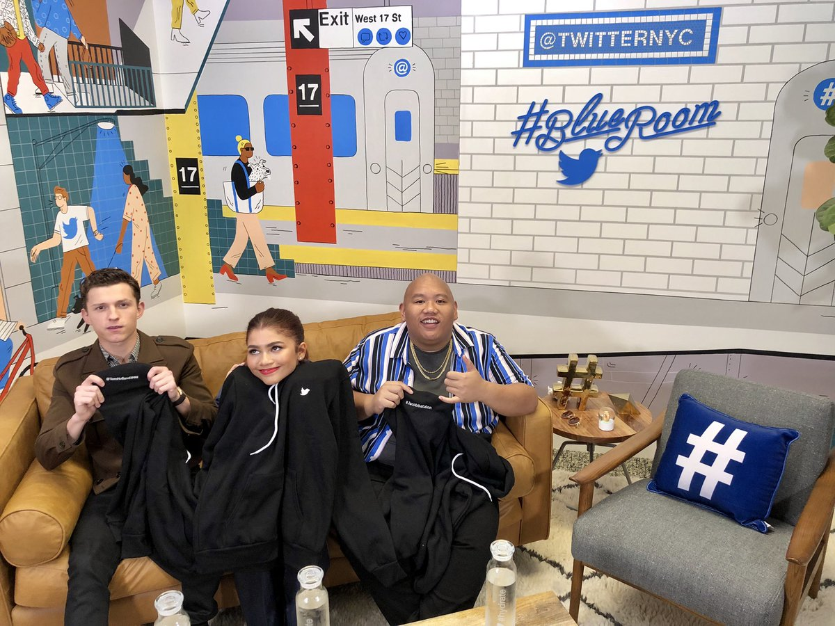 We're coming to you LIVE with Tom, @Zendaya, and Jacob in 3, 2, 1... #AskSpiderMan