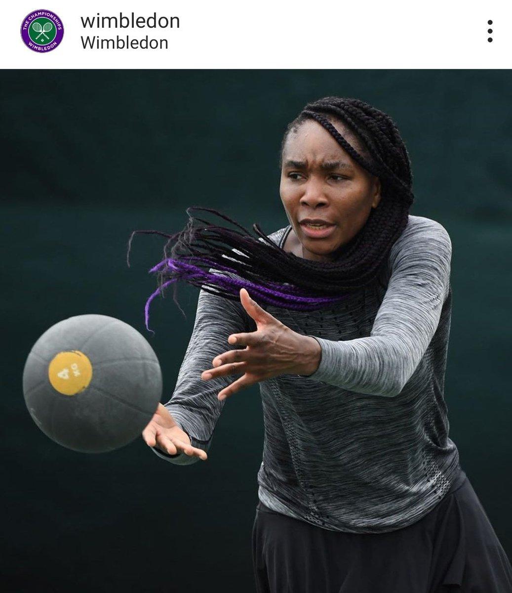 Venus already training at Wimbledon  #venuswilliams<br>http://pic.twitter.com/IyRXRbKsc4