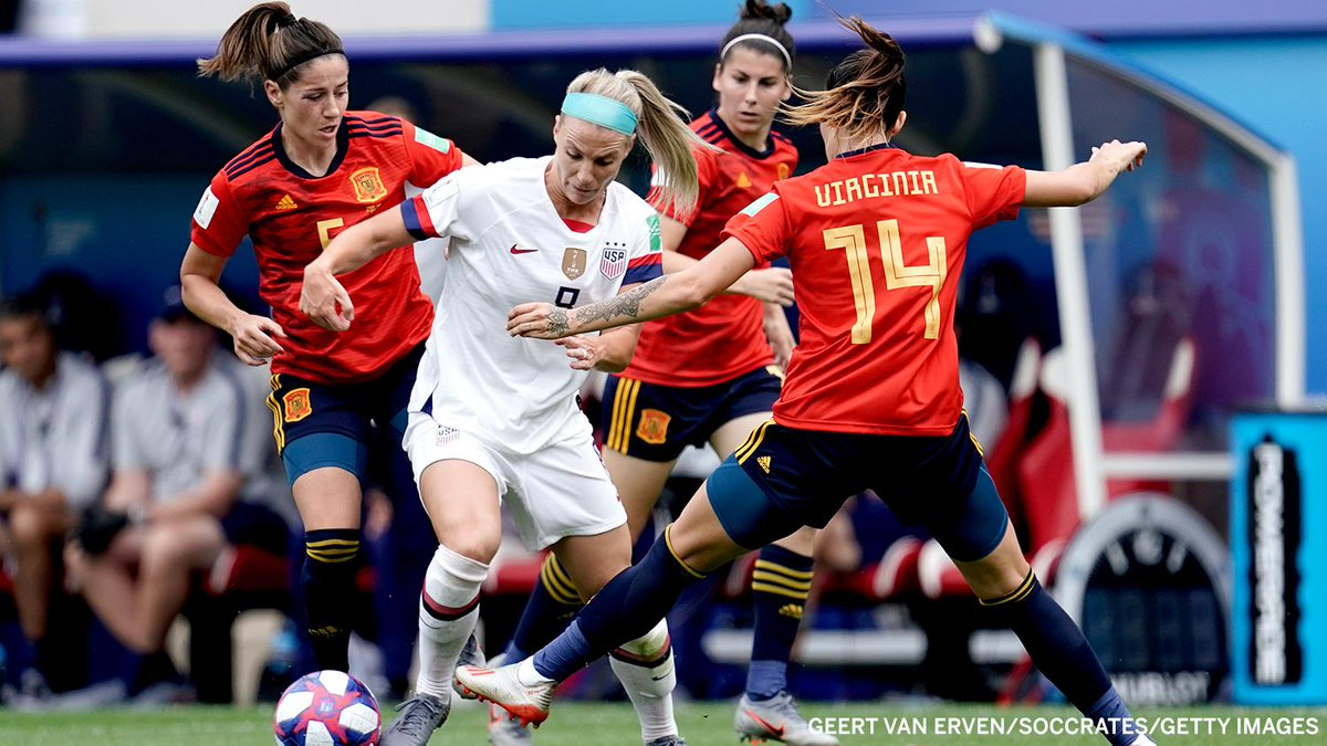 cfc156c24a0 #ESPUSA is tied 1-1 at the half!pic.twitter.com/6CjzLtWDS7