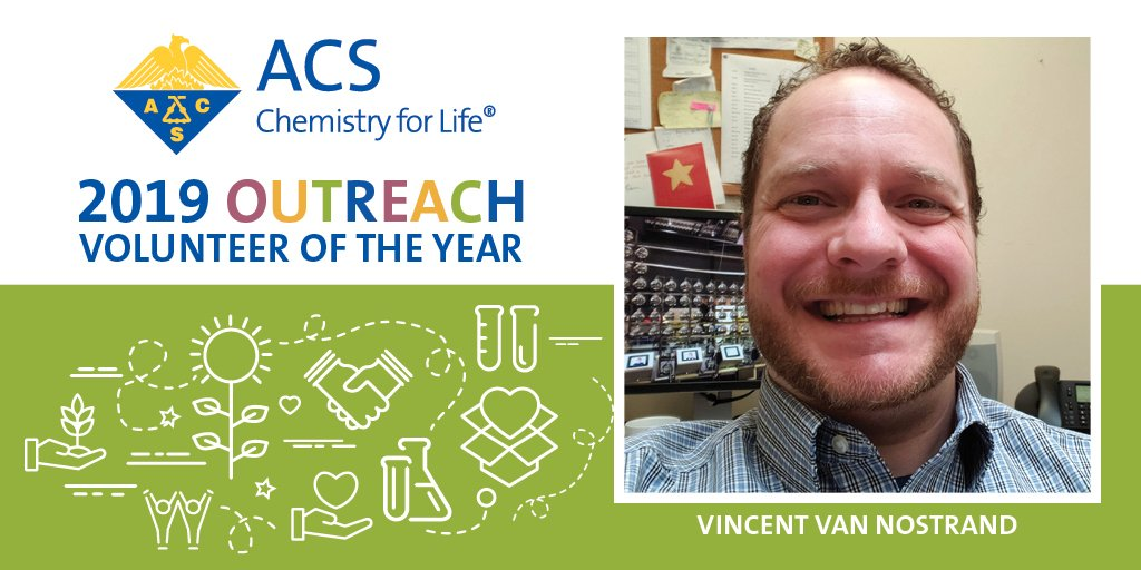 #MondayMotivation Congrats to Vincent Van Nostrand, named the 2019 #ACSVoty for the Binghamton Local Section. Learn more at http://www.acs.org/voty #ChemTwitter #ChemChat #SciComm