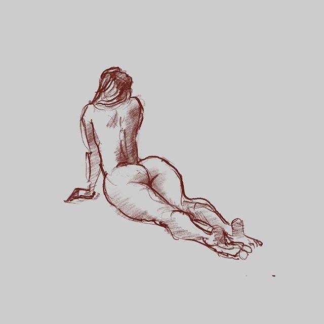 5 minutes.  #art #lifedrawing #drawing #figuredrawing #gesturedrawing #sketch #croquis #quicksketch #quickstudy #artwork #figurativeart #fineart #draw #procreate #ipad #debujo  #MadsDoArt http://bit.ly/2IGde2x