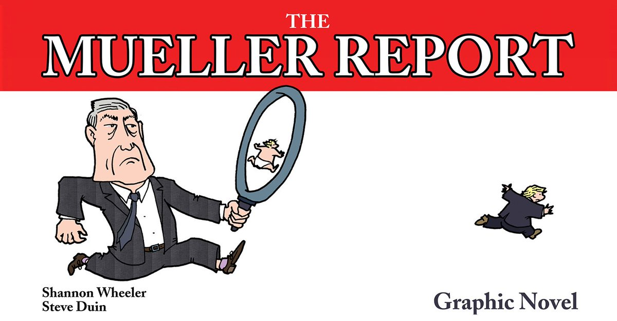 Thanks to cartoonist @MuchCoffee + journalist @SteveDuin we can all read The Mueller Report—and maybe even enjoy it. massmovement.co.uk/mueller-report…
