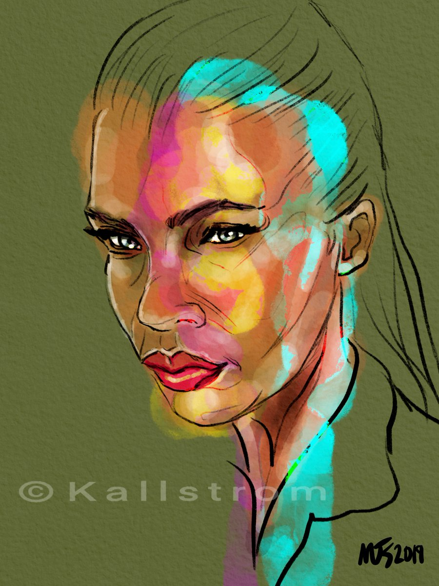 Afternoon Work. Some of my work is available on https://michael-kallstrom.pixels.com    #thedailysketch #drawing #sketch #painting #art #draw365 #artist #Twitart #followart #Procreate #artistontwitter  #portraitpainting #portraitdrawing