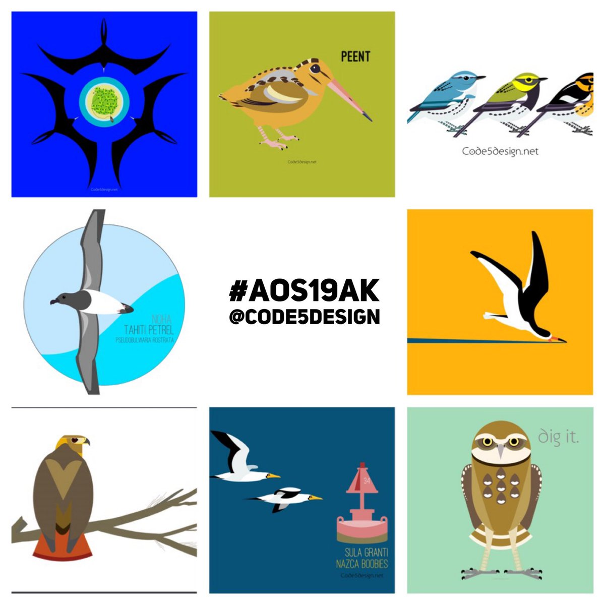 #Discount (15%) for first 10 #AOS19AK participants who tweet about their research using @Code5Design tag and any of our images beside the #AOS19AK hashtag! DrBirdLady @Jessica_Oswald #ornithology #birds #scicomm #illustrations #sciart