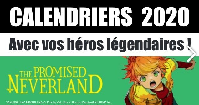 Calendrier Manga 2020.The Promised Neverland Fr On Twitter Un Calendrier 2020