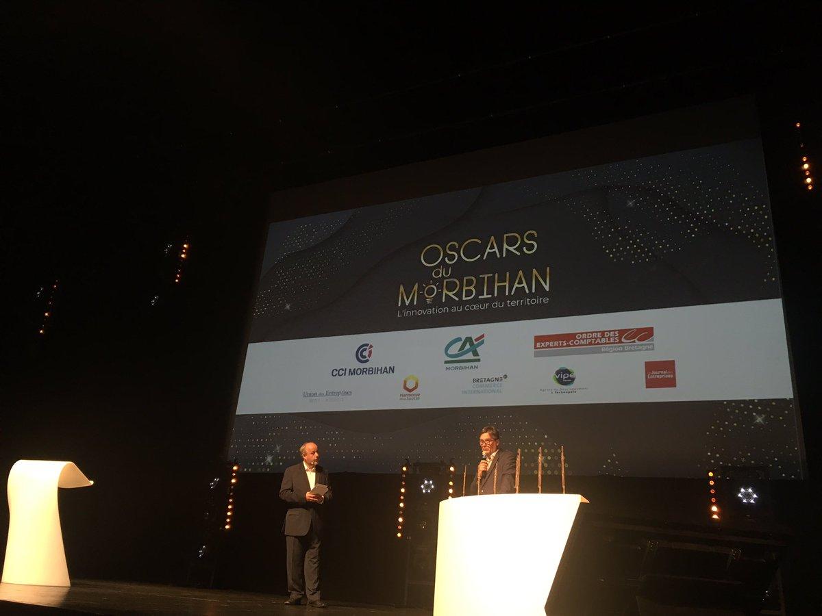 #OscarsDuMorbihan une soirée pour récompenser l'innovation, sous toutes ses formes, sur notre beau territoire ! Hâte de découvrir les lauréat.e.s !  Le live par ici 👉 @CCI_du_Morbihan #bzh #morbihan #entrepreneuriat