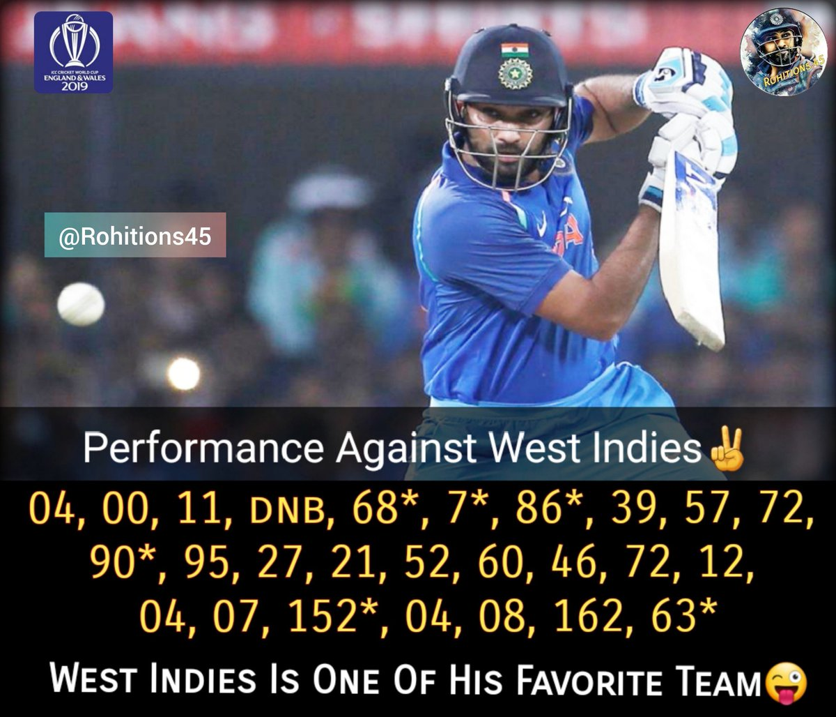 Hope He Will Continues His Dominance Over West Indies✌ @ImRo45 @ritssajdeh @BCCI @soumitraro45 #webelieve #rohitions45 #indvswi #indvwi #cricketmerijaan #mumbaiindians #cricket #mipaltan #rohitsharma #rohitsharma45  #worldcup #viratkohli #msdhoni #shikhardhawan