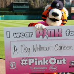 Image for the Tweet beginning: Detroit Tigers Pink Out the