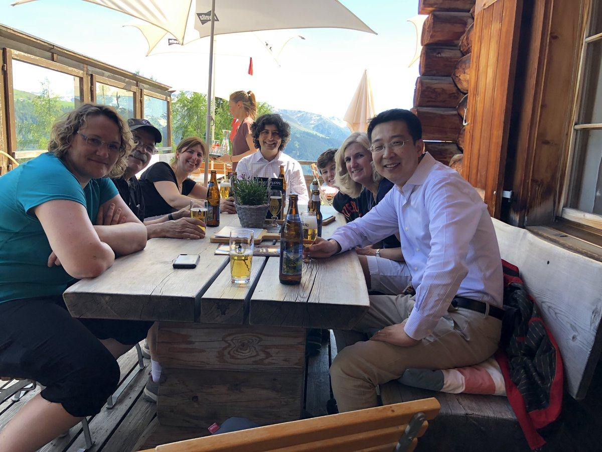After a long walk in Davos #etox19  @ETOX_19 we decided to hydrate! https://t.co/AGhxhFlBjS