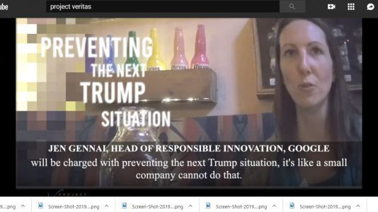 Project Veritas Video Reveals Google is a 'Highly Biased PoliticalMachine' https://amgreatness.com/2019/06/24/project-veritas-video-reveals-google-is-a-highly-biased-political-machine/…