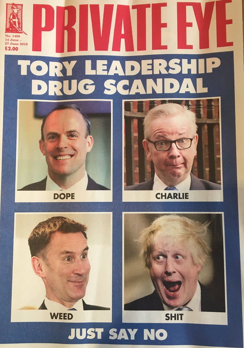 Don't you just love the cover of this week's Private Eye. Long live good old fashioned political satire.