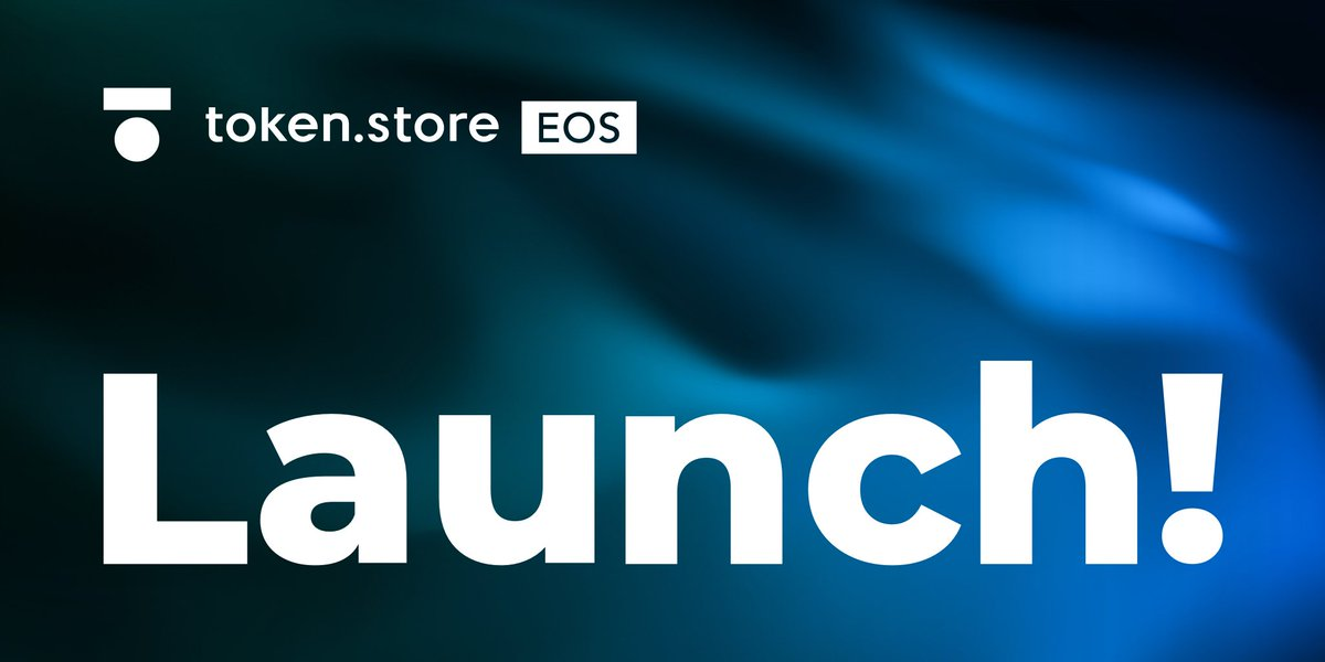 Finally, the launch! 🚀  We are proud to present to you http://token.store EOS - EOS' first fully #trustless exchange 🔑  Start trading on our #EOS #DEX here: https://token.store/eos and enjoy the limited time 0% fees!  Happy trading!