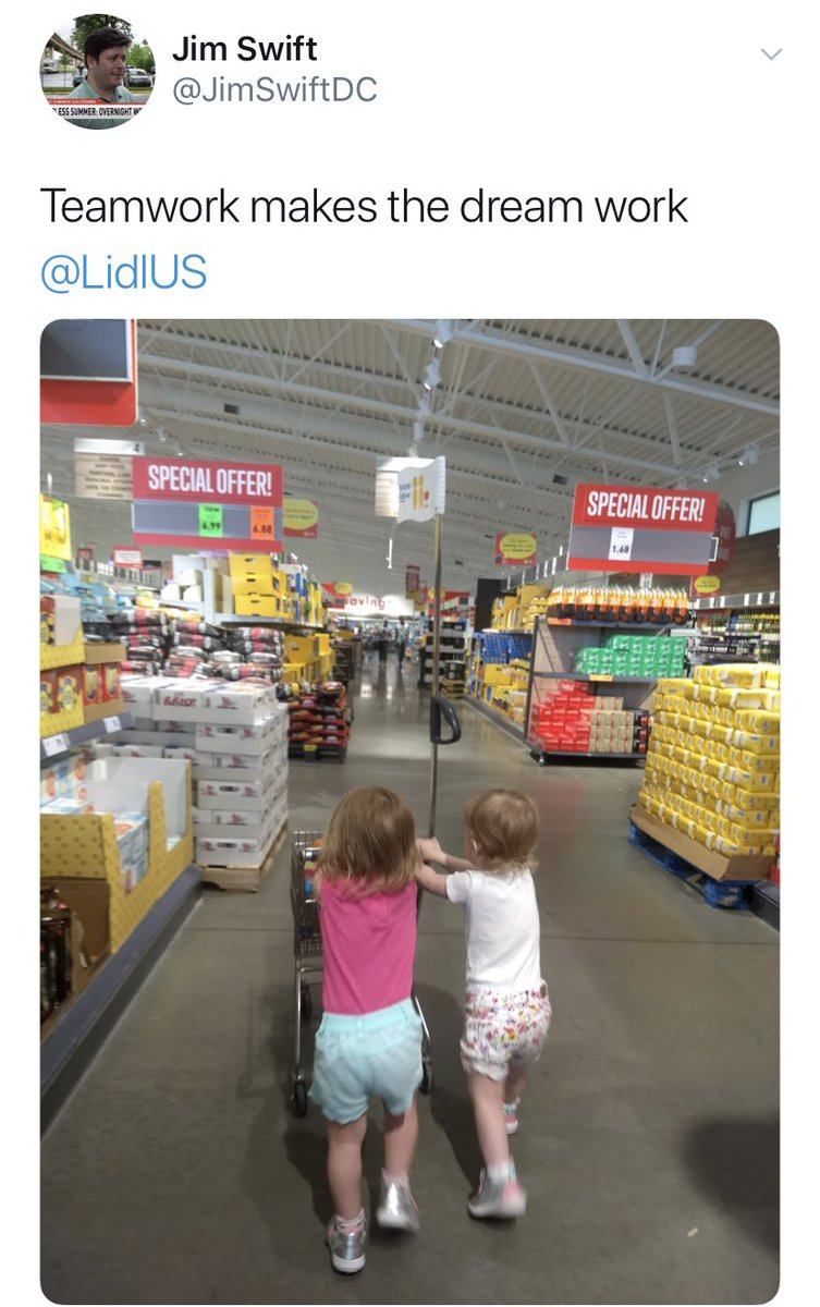 Just a very normal person responding to a picture of cute kids with a political attack on their parent's coworker