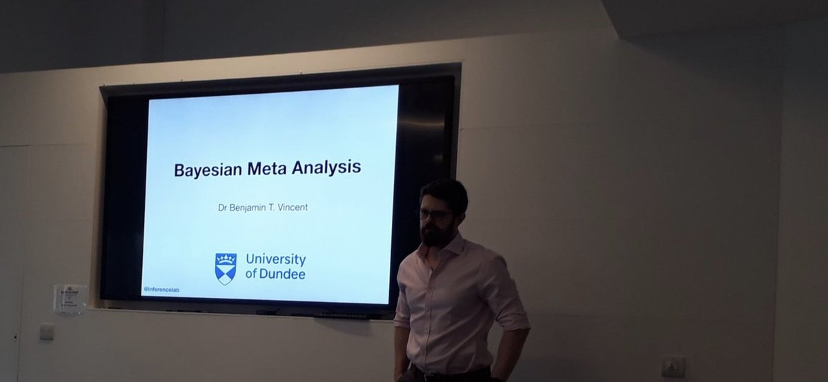 Next, @inferencelab is talking about Bayesian Meta Analysis, in panel session 'Innovation in Methods and Discovery Analytics' at #ISSR2019 https://t.co/hYCYIWU73o