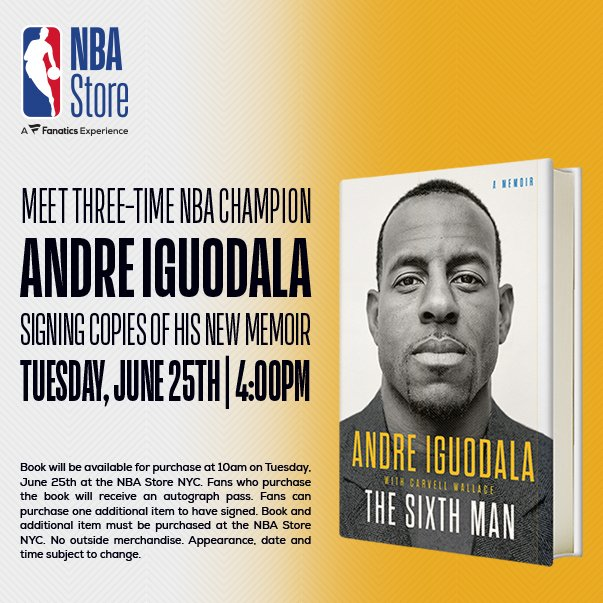 TODAY... @andre at the @NBASTORE in NYC!
