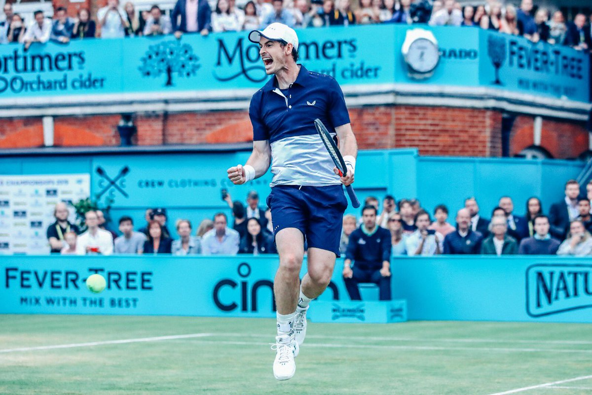 The come back King! Couple of my favourites from Andy Murray's incredible come back to competitive tennis this week at @QueensTennis  . . . #queens #tennis #andymurray #FeverTreeChampionships #FelicianoLopez<br>http://pic.twitter.com/a1jH1lXYrN