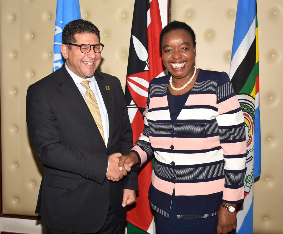 Received credentials from Walid Badawi, the new UNDP Country Representative in my office today. I welcomed him to Nairobi and wished him a successful tour of duty.