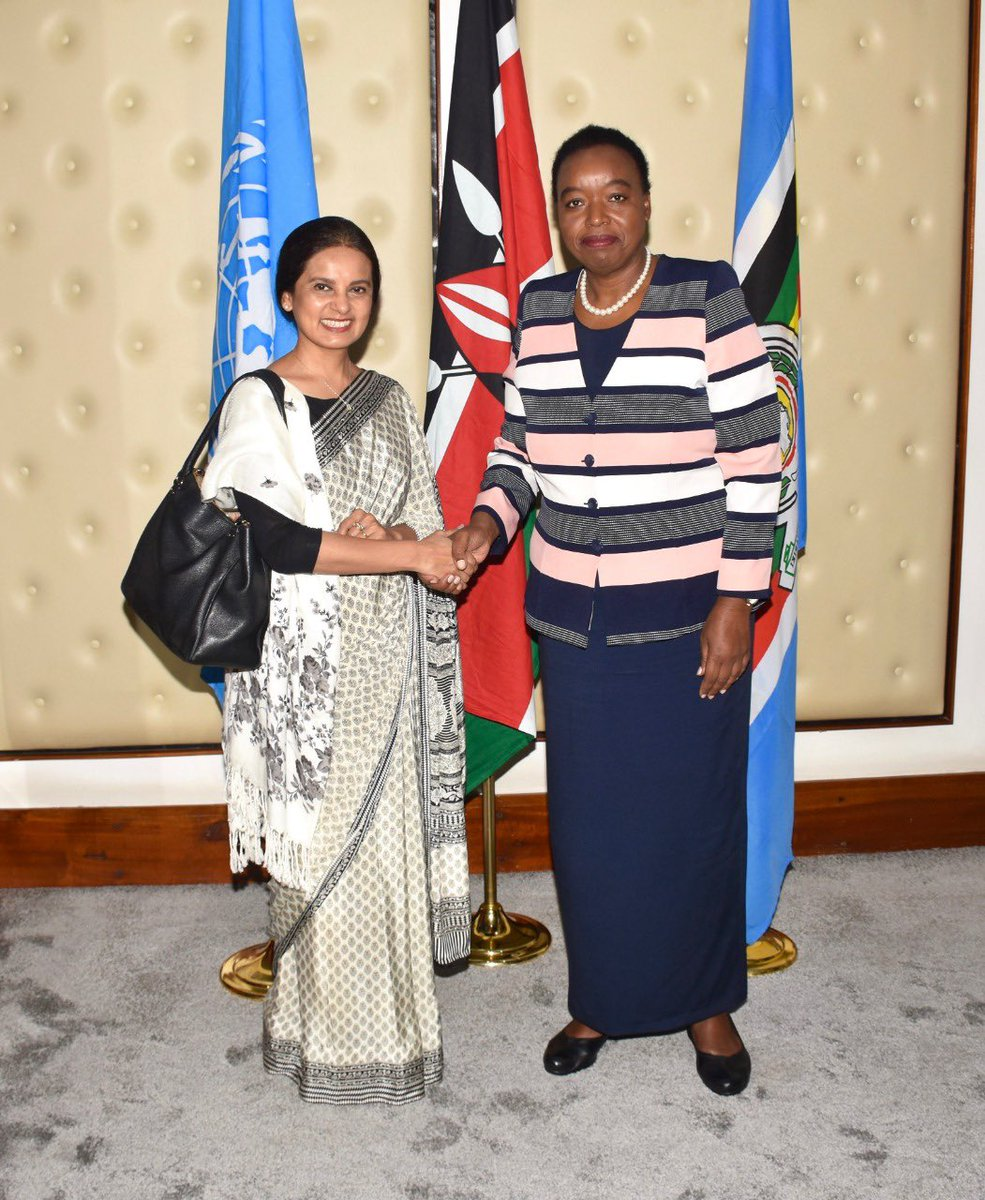 Received credentials from Ms. Maniza Sultana Zaman, the new UNICEF Country Representative for Kenya today at my office. I wished Ms Zaman success as she embarks on her tour of duty.