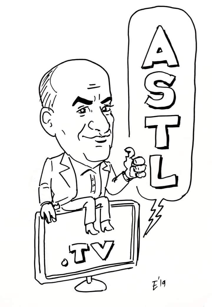 Caricatura del periodista Alejandro Ruiz, quien nos acompañó en el programa. Saludos!  #caricatura #dibujo #ilustracion #tv #periodismo #cadenahtv #caricature #cartoon #illustration #drawing #ink #astl