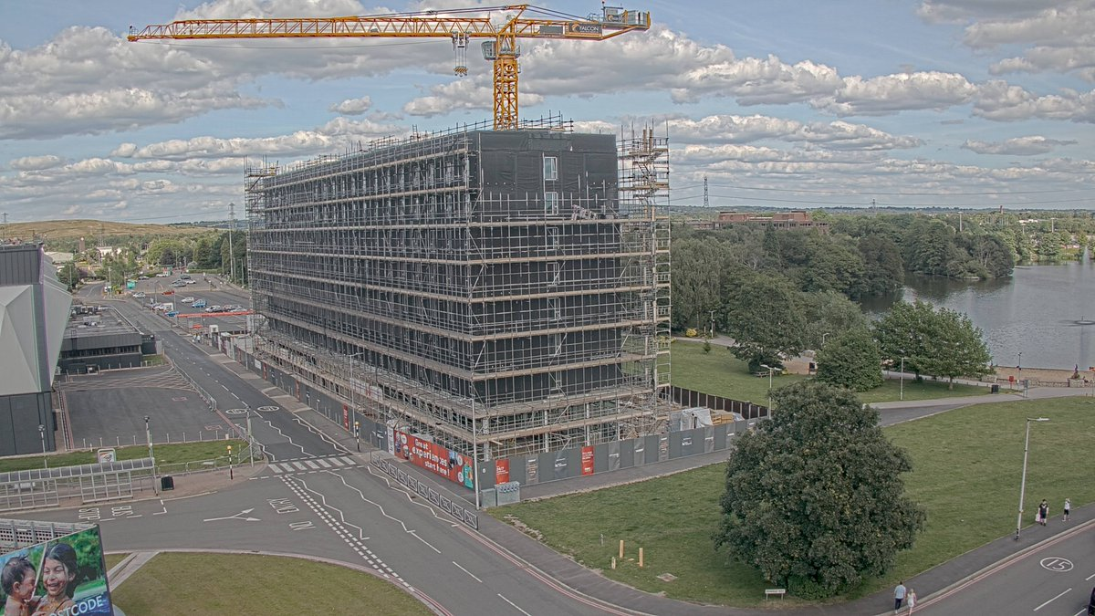 Great to see the recent progress on our construction of the new @MoxyHotels at @thenec for @vastintuk with the 7th floor CLT installation now complete! The hotel, which is due to open next year, will provide 224 rooms over 8 storeys! #MilestoneMona #hospitality #newbuild