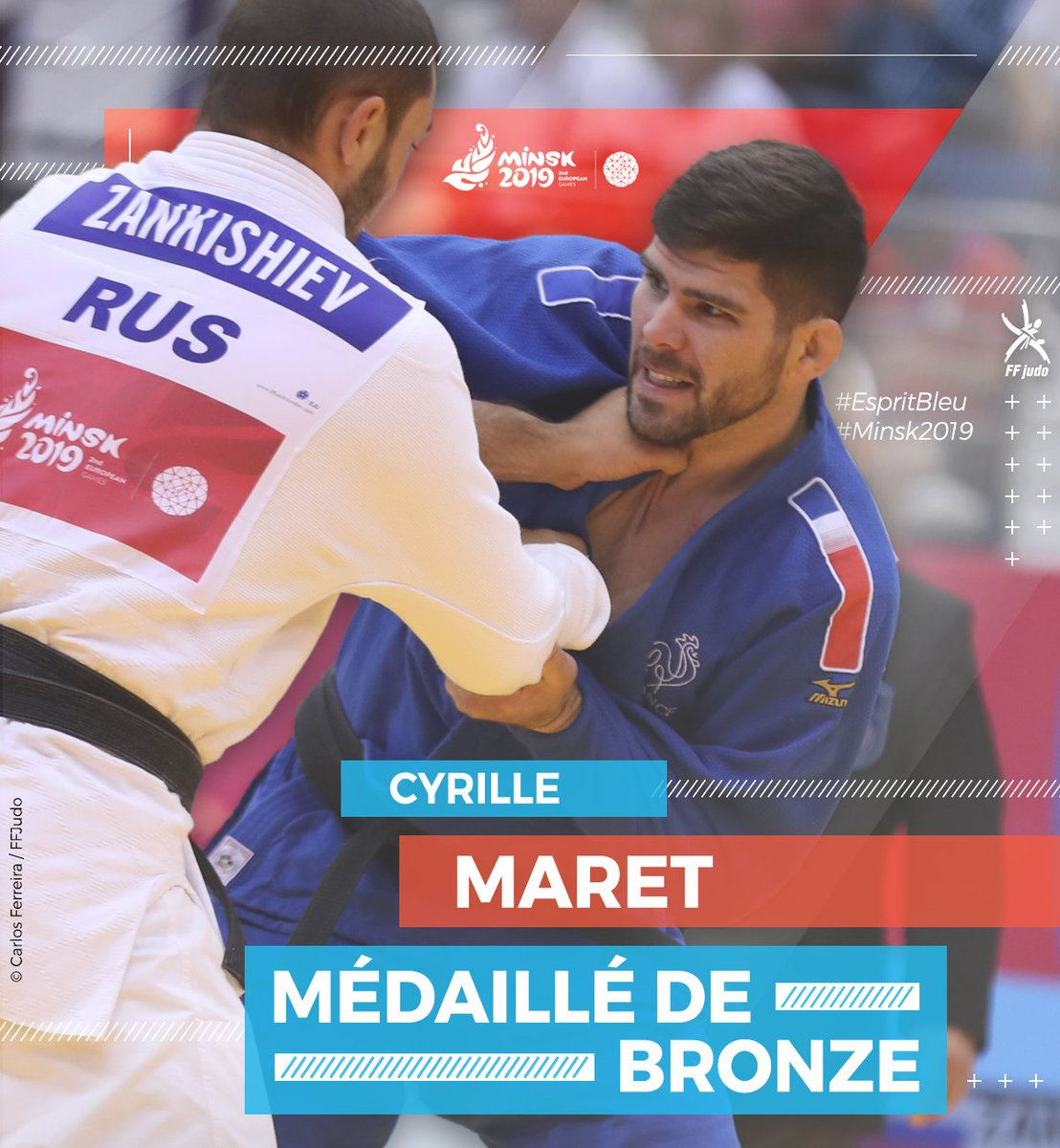 Cyrille MARET est médaillé de bronze !🥉 Il s'agit pour notre Français de sa 6e médaille européenne (Argent en 2017 et 2018, Bronze en 2013, 2014, 2015 et 2019) https://t.co/PqcZEPDZE0
