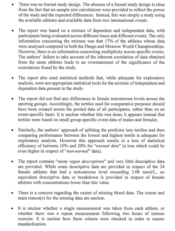 CAS decision in Caster Semenya case - ASA's arguments