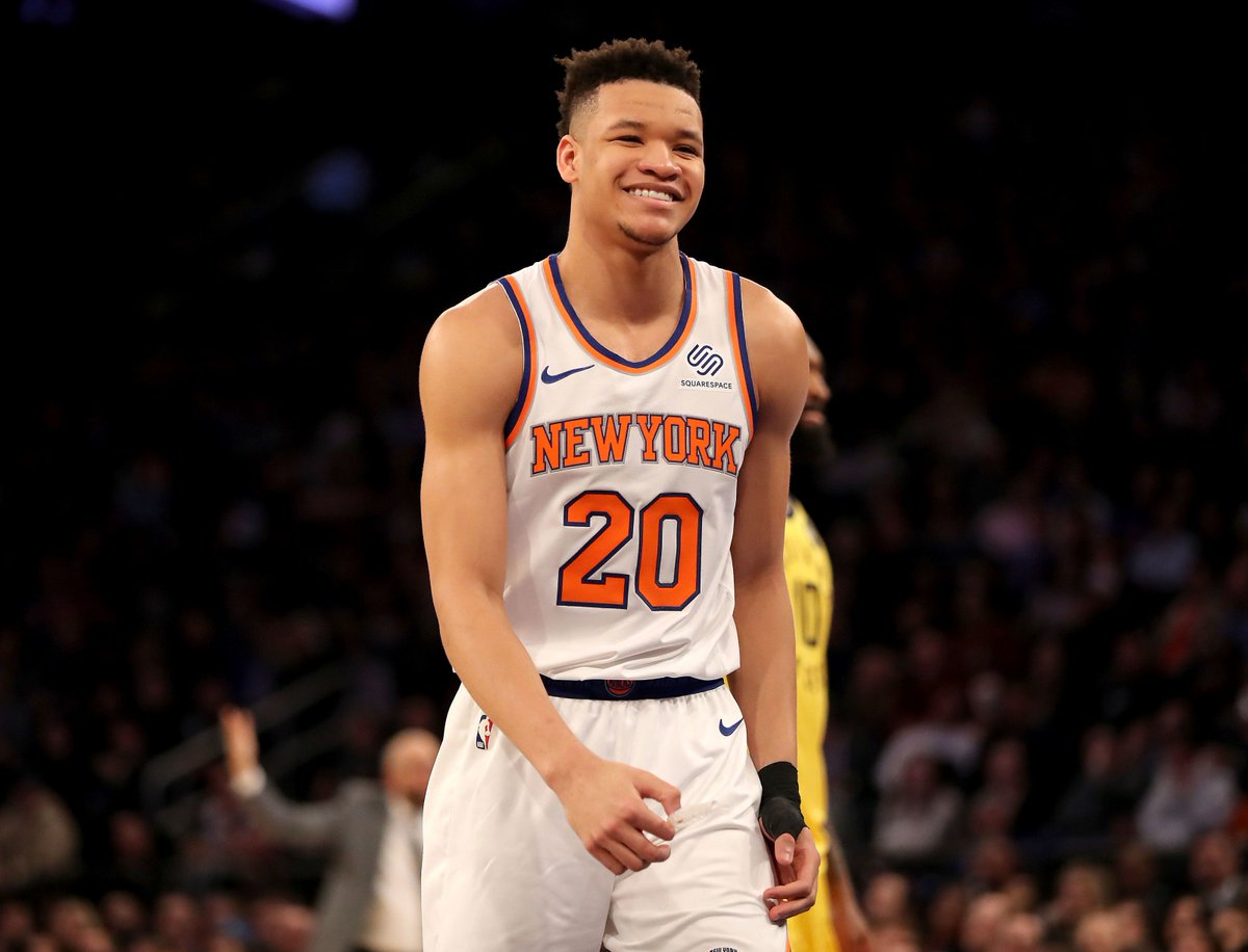 Kevin Knox rookie highlightsm🔥   There's definitely all-star potential in Knox. Him and RJ could form to be an explosive offensive duo.