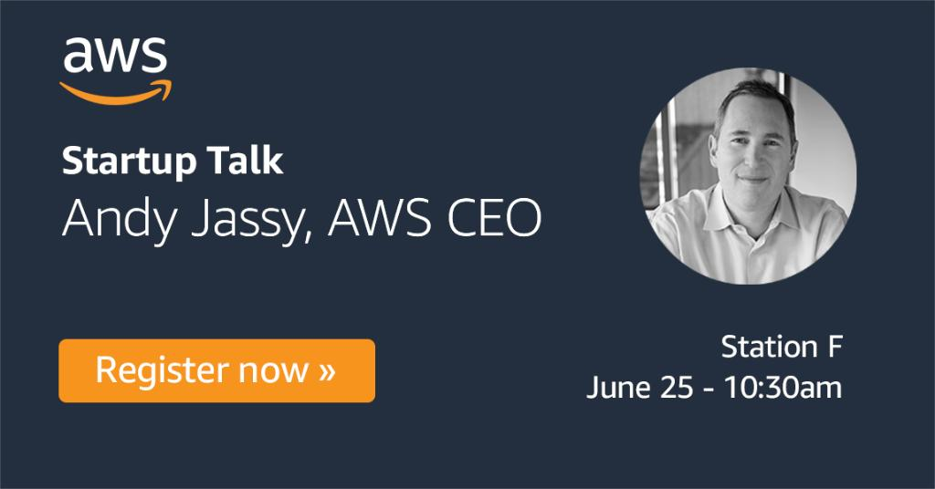 Startups françaises : RDV demain à @joinstationf pour une rencontre exclusive avec @ajassy, fondateur et CEO d'Amazon Web Services qui vous donnera ses conseils pour construire une startup à forte croissance. Inscriptions : https://t.co/Z8HC5m8NDr https://t.co/FsA1JgEEZN