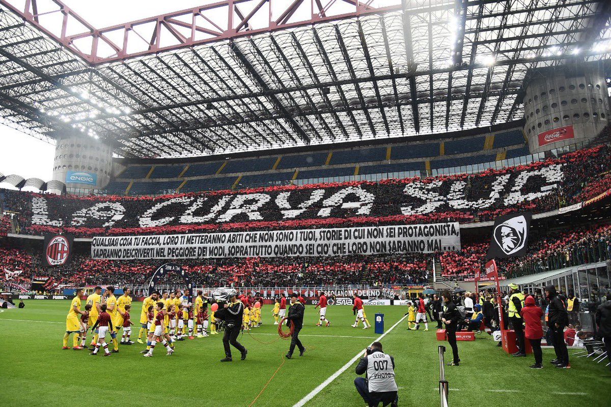 """🗣@acmilan president, Paolo Scaroni: Were building a new stadium near the old one. San Siro will be demolished and there will be new buildings in its place."""" The end of an era for a historic stadium."""