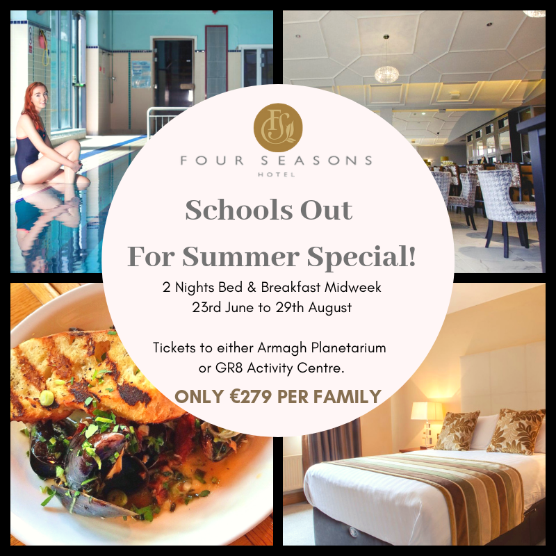 """With schools almost finished up its a great time to avail of our """"Schools Out For Summer, 2 Night Stay Special"""". Valid: Midweek from 23rd June to 29th August only €279.00 per family 🌞😀😍 Call us (047) 81888 or book online at https://t.co/iIzTTyEM5J ✅🗓️☎️ https://t.co/6ZDguiR5qh"""