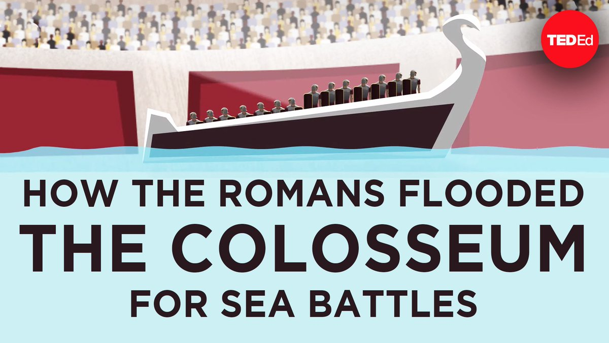 NEW VIDEO: Spectators filled the stands of the Colosseum to see gladiators duel, animals fight and chariots race around the arena. And for the grand finale, water poured into the arena for the greatest spectacle of all: staged naval battles. http://t.ted.com/lFmhcHf