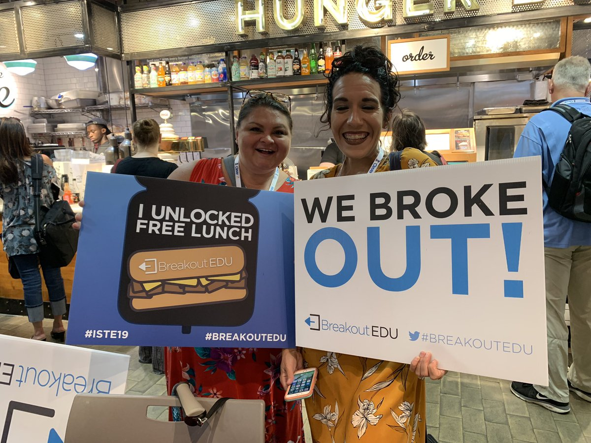 Come find us in Reading Terminal Market for a chance to win lunch! @breakoutEDU