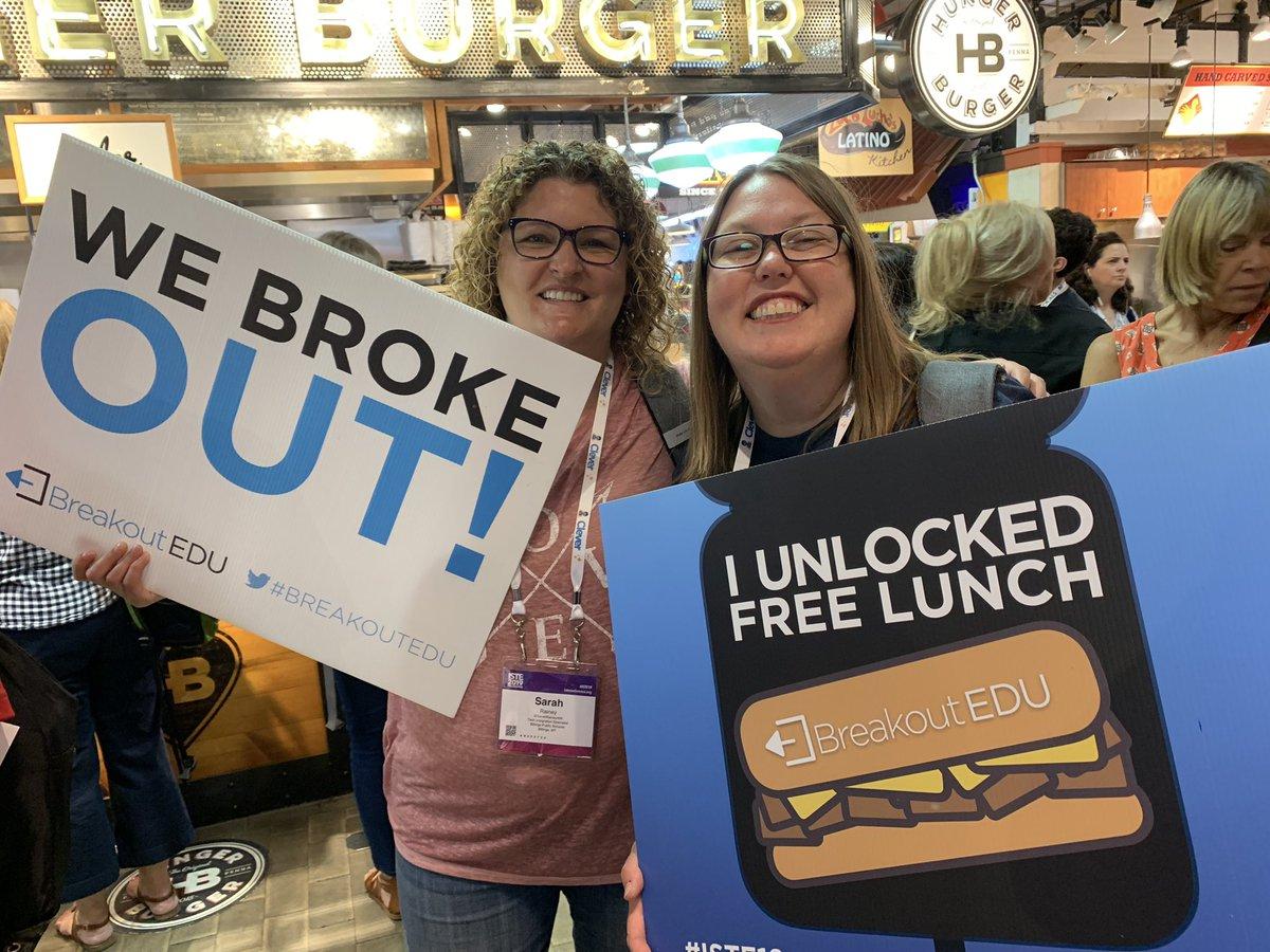 They Unlocked Lunch! @breakoutEDU