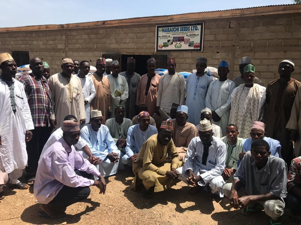 In Kafur, Katsina State, farmers of Nabaichi seeds Ltd received seeds for maize production as part of NIRSAL's activities under @cenbank's Anchor Borrowers' Programme (ABP).  #NIRSAL #agribusiness #finance #abp #inputsdistribution #maizeproduction pic.twitter.com/etYW7T6e2D