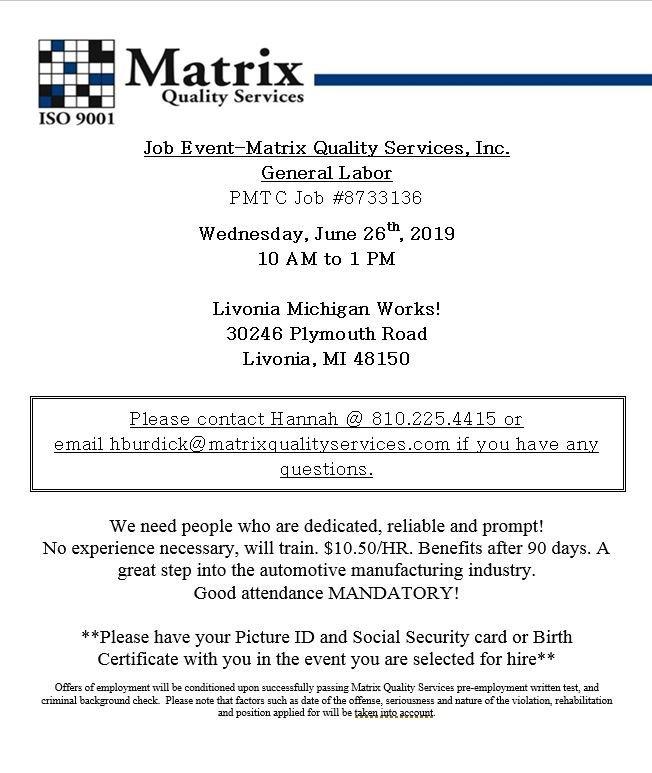 Matrix Quality Services (@MatrixQuality) | Twitter