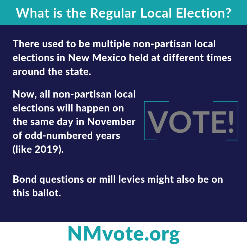 What is the Regular Local Election that's happening in #NM this year on Nov 5th? Glad you asked...  #nmpol #voting #elections