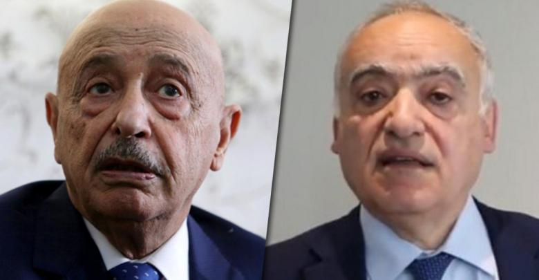 #UN Envoy to #Libya Ghassan #Salame met, Monday with Speaker of the House of Representatives (#HoR) Aguila #Saleh, as they discussed the recent developments of the Libyan political crises. #218newseng