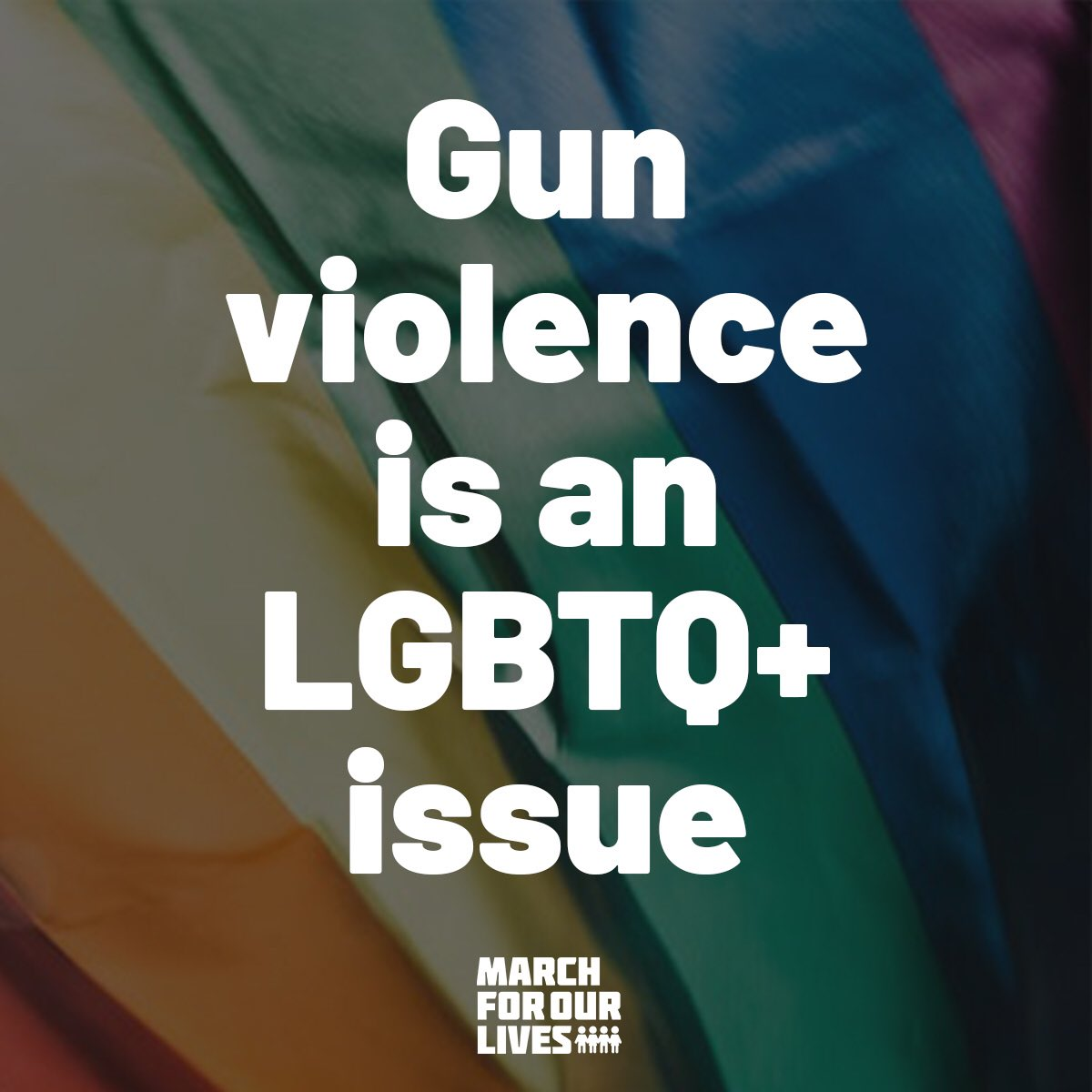 .@AMarch4OurLives was started and is run by queer students. To simply be ourselves is an act of protest. And we know that LGBTQ+ youth are at higher risk of harm, either from others or from themselves. We WILL end gun violence and create a world that's safe for ALL of us. #Pride