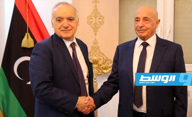 UN Envoy to #Libya Ghassan Salame and Head of Libyan House of Reps. Aguila Saleh hold meeting  http://alwasat.ly/news/libya/248992…