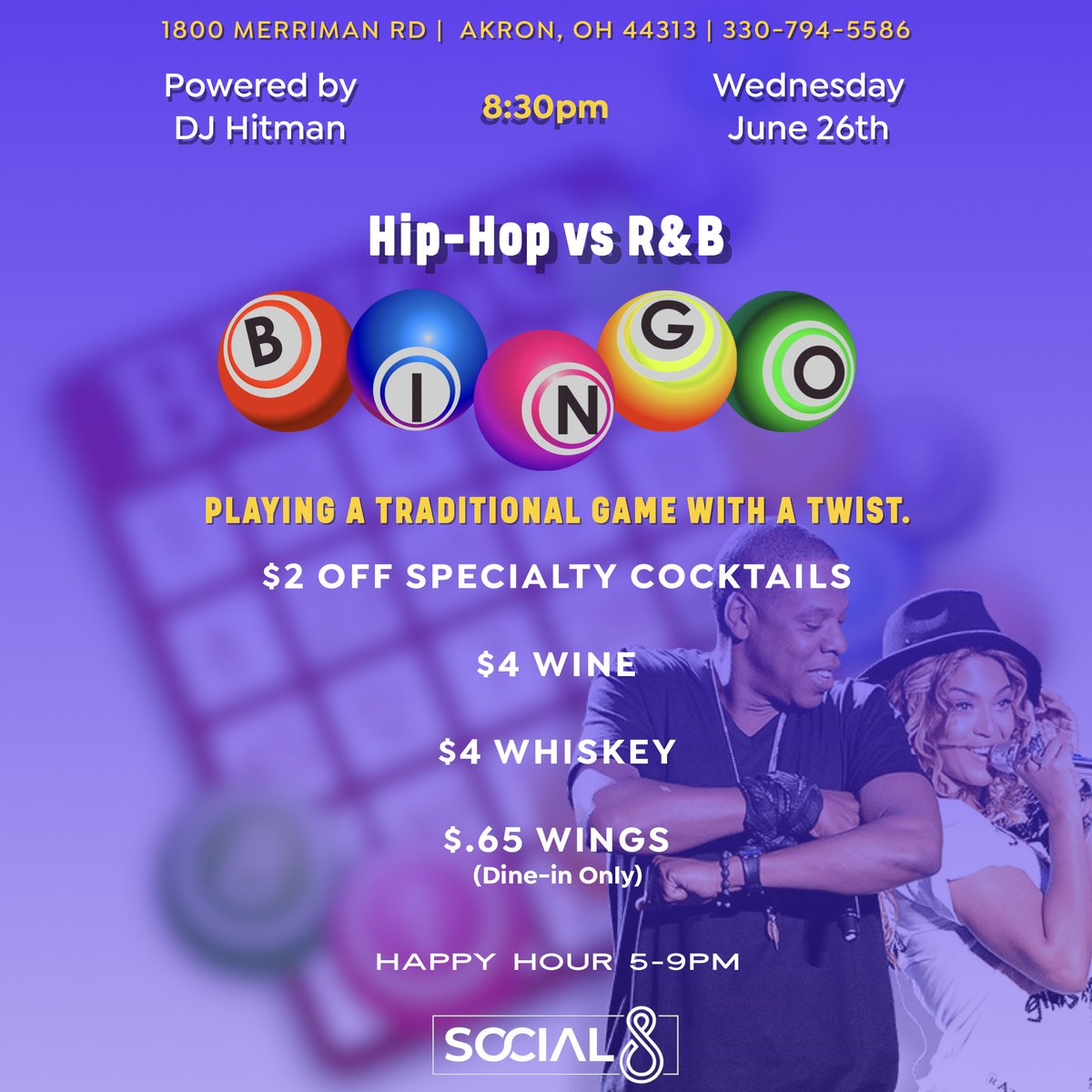 New events coming to Social 8!!! _____ #Social8 #Social8Akron #Akron   #SocialLife #thisisakron #AkronProud #socialize #network  #positivevibes #socialhour #happyhour #social8socialhour  #drinkspecials #thevalley #merrimanvalley #merrimanvalleyohio #valleydistrict #gamenight