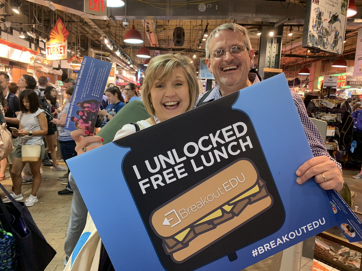 They unlocked lunch! You can too. bit.ly/unlocklunch. @breakoutEDU #iste2019 #Iste19