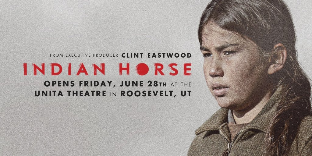 #Utah fans, we are delighted to announce that #IndianHorse will be opening on June 28 in Roosevelt, Utah at @RooseveltMovies.   Check our website for showtimes for this inspiring #Native #hockey movie:  http://indianhorsemovie.com/see-the-film/  #Uintah #Ouray #Ute